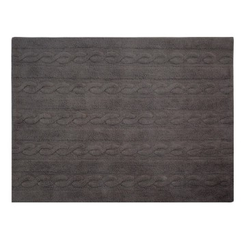 Alfombra trenzas gris oscuro 120x160cm