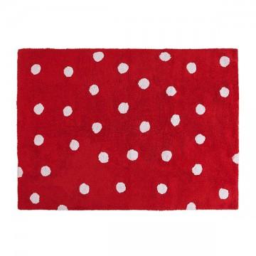 Alfombra topos rojo 120x160cm