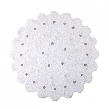 Alfombra galleta blanco 140cm