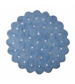 Alfombra galletita azul 140cm