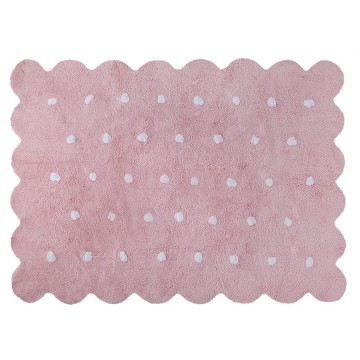 Alfombra galleta rosa 120x160cm