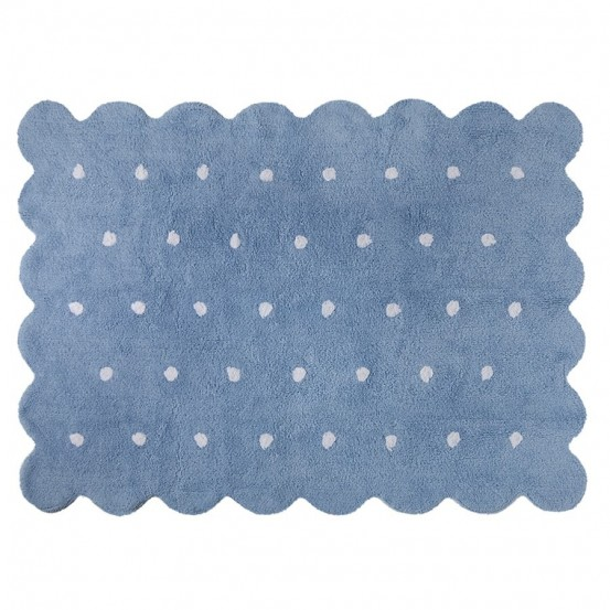 Alfombra galleta azul 120x160cm