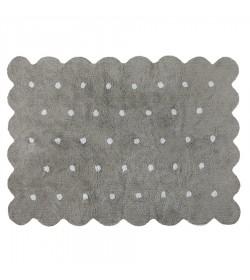 Alfombra galleta gris 120x160cm