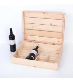 Estuche para 4 botellas personalizado CM0017