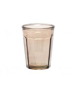 Vaso vidrio reciclado marrón