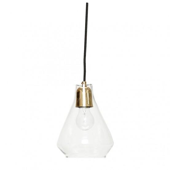 Lámpara de vidrio y cobre