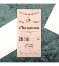 Invitación boda 10x20cm 'Nos casamos'