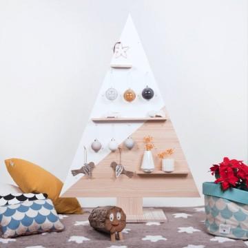 Árbol de Navidad de madera nórdico
