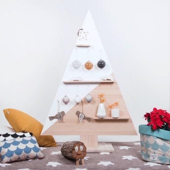 Rbol de navidad madera n rdico - Arboles de navidad de madera ...