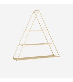 Estantería triangular dorada