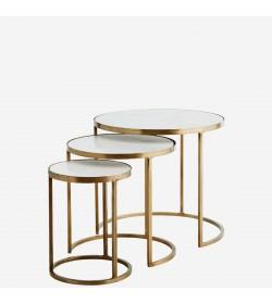 Set de mesas de café de mármol