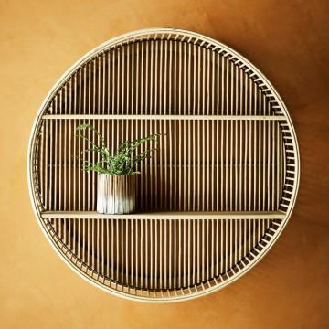 Estantería redonda bambú