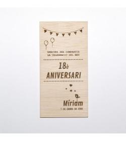 Invitación fiesta 10x20cm 'Aniversario'