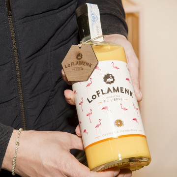 Etiqueta para botella LO FLAMENK