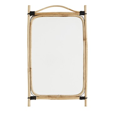 Espejo de bambú