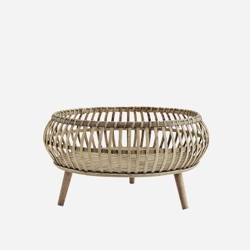 Bandeja de bambú con patas