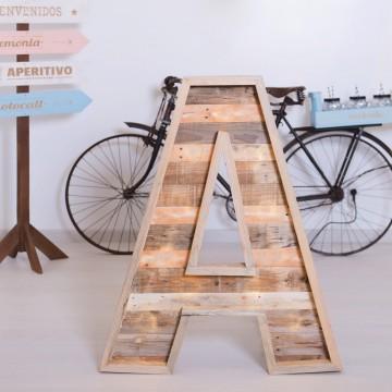 Letra de madera 80cm