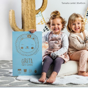 Cartel recién nacido 'León'