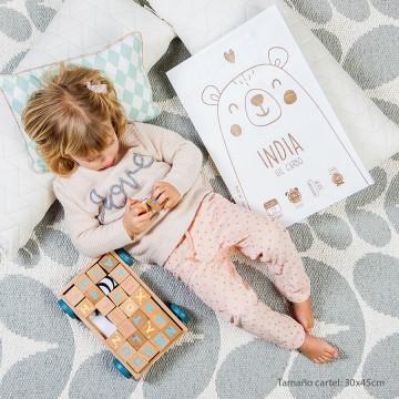 Cartel recién nacido 'Oso'