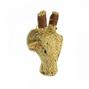 Cabeza jirafa de esparto