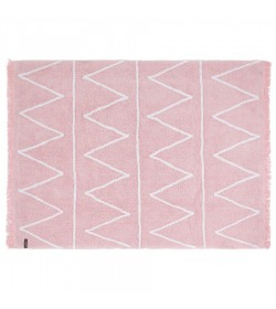 Alfombra hippy rosa claro 120x160cm