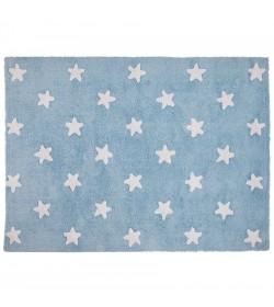 Alfombra estrellas azul-blanco 120x160cm
