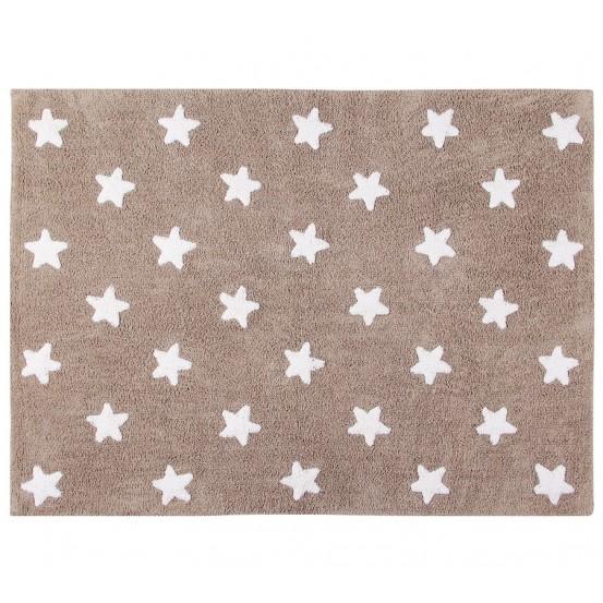 Alfombra estrellas lino-blanco 120x160cm