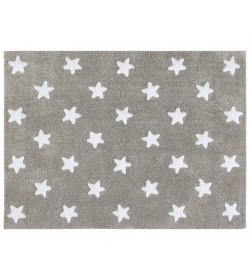 Alfombra estrellas gris-blanco 120x160cm