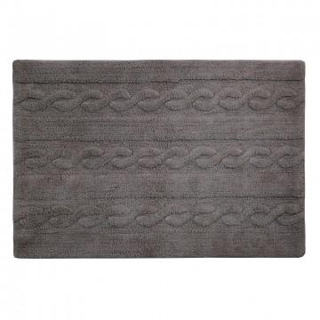 Alfombra trenzas gris oscuro 80x120cm